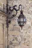 Antique wrought iron lamp in Andalusia Stock Photography