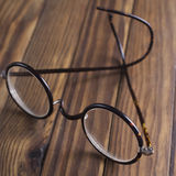 Antique XIX century glasses in selective focus Royalty Free Stock Photo