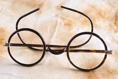 Antique XIX century glasses in selective focus Stock Image