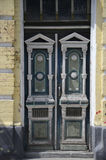 Antiqued door in Kiev Royalty Free Stock Photography