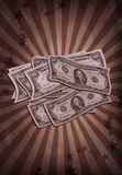 Antiqued Money Royalty Free Stock Photo
