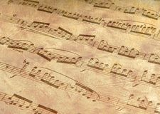 Antiqued Music Royalty Free Stock Images