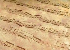 Antiqued Musik Lizenzfreie Stockbilder