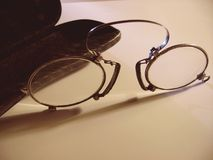 antiqueglasses Arkivbilder