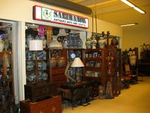 Antiques Arts and Crafts in Tiendesitas Stock Photography