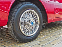 Antiques car tires Royalty Free Stock Photos
