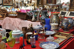 Antiques Fair in Arezzo stock photography