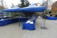 Antiques Fair. An antiques fair at Plaza Peru, in Santiago, Chile stock photos