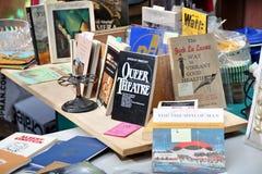 Antiques Garage Flea Market. NEW YORK CITY - MAY 9: Vintage books at the Antiques Garage Flea Market in Manhattan on May 9, 2009. This flea market has been Stock Photo