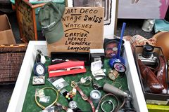 Antiques Garage Flea Market Royalty Free Stock Photos