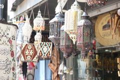 Antiques and gifts, traditional Palestinian, logos stock photography