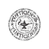 Antiques grunge rubber stamp Stock Images
