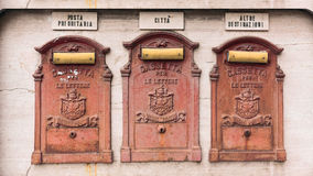 Antiques mailboxes Royalty Free Stock Image
