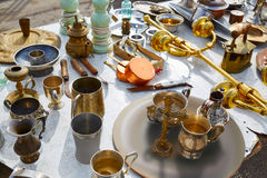 Antiques market outdoor in Spain Royalty Free Stock Image