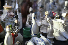 Antiques of the nineteenth century for sale on a flea market in Tbilisi Stock Photo