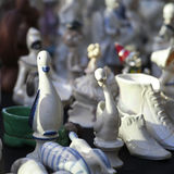 Antiques of the nineteenth century for sale on a flea market in Tbilisi Stock Images