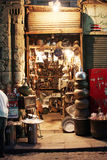 Antiques in old market in  cairo in egypt in africa. Antiques  in old cairo in egypt Royalty Free Stock Photo