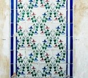 Antiques Portuguese tiles hand painted. Stock Images