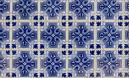 Antiques Portuguese tiles hand painted. Royalty Free Stock Photos