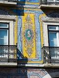 Antiques Portuguese tiles hand painted. Stock Photos
