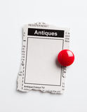 Antiques Sale ad Stock Image