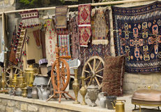 Antiques on sale in arabic town. Antiques on sale in old arabic town Stock Photos
