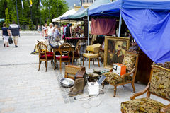 Antiques sale at the Independence Square, Zakopane Stock Image