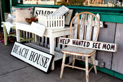 Antiques at a Seaside Resort stock photo