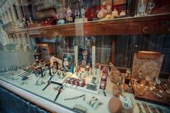 Antiques shop ld, sale, store, vintage, ancient, market, art, culture, decoration, interior, object, furniture, business stock photo