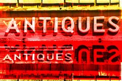 ANTIQUES Signs Royalty Free Stock Photography