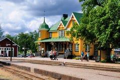 Antiquierter Bahnhof, Gripsholm, Schweden Lizenzfreies Stockfoto