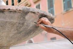 Antiquitè di sabbiatura Immagine Stock
