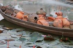 Antiquité dans le bateau Photos libres de droits