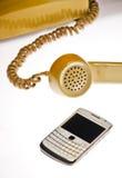 Antiquité et téléphones portables Image stock