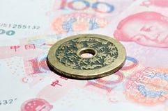 antiquited монетка Стоковое фото RF