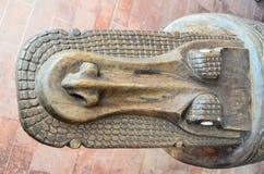 Antiquiteit Gesneden Houten Bas Relief royalty-vrije stock foto's
