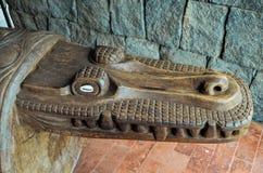 Antiquiteit Gesneden Houten Bas Relief royalty-vrije stock fotografie