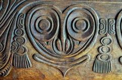 Antiquiteit Gesneden Houten Bas Relief stock afbeeldingen