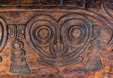 Antiquiteit Gesneden Houten Bas Relief stock fotografie