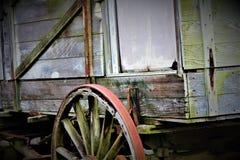 Antiquiteit Getrokken Wagen stock afbeeldingen