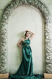 Antiquiteit. Portret van aantrekkelijk mooi meisje. Royalty-vrije Stock Foto's