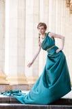 Antiquiteit. Portret van aantrekkelijk mooi meisje. Royalty-vrije Stock Fotografie