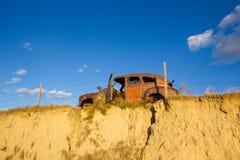Antiquiteit Verlaten Auto in Centraal Nebraska royalty-vrije stock afbeeldingen