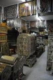 Antiquiteitenopslag Stock Foto's
