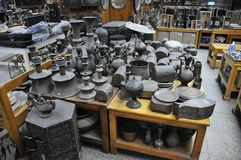 Antiquiteitenopslag Stock Foto