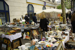 Antiquities market in Paris. Traditional outdoor antiquities market in Paris (France Royalty Free Stock Photography