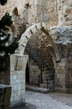 Antiquities near the western wall Royalty Free Stock Photography
