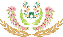 Antiquity decoration. Antiquity decoration on white background. Vector Royalty Free Stock Photos