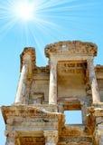 Antiquity greek city Ephesus. Old Library Stock Image