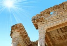 Antiquity greek city- Ephesus. Antiquity greek city - Ephesus. Library Royalty Free Stock Photography